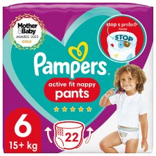 Pampers Active Fit 22 Nappy Pants Size 6 Essential Pack