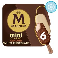 Magnum Mini Clsc Almond And White 6 Pack 330Ml