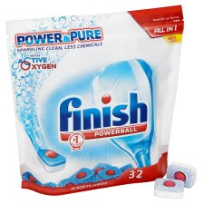 Finish All In 1 Dishwasher Tablets Power And Pure 32S