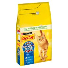 Go Cat Crunchy And Tender Salmon And Tuna 1.5Kg