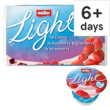 Muller Light Fruits Yoghurt 6X175g