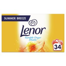 Lenor Tumble Dryer Sheets Summer 34Pk