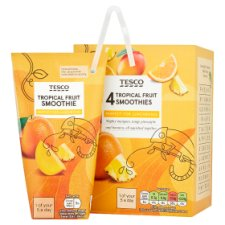 Tesco Tropical Smoothie 4 X 180 Ml