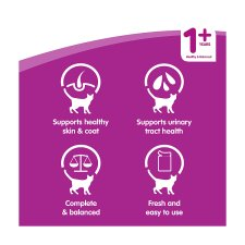 Whiskas 1+ Gravy Poultry Cat Food Pouches 12 X100g