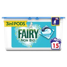 Fairy Non Biological Washing Pods 15 Washes 361.5G
