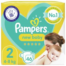 Pampers New Baby Size 2 46 Nappies Essential Pack
