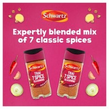 Schwartz Thai 7 Spice Seasoning 52G Jar