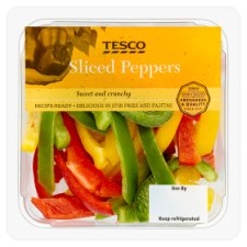 Tesco Sliced Peppers 150G