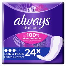 Always Dailies Extra Prot Long Plus Panty Liners 24 Pack