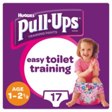Huggies Pull Ups Training Pants Pink 1-2.5 17 Pack