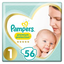 Pampers Premium Protection Size 1 56 Nappies