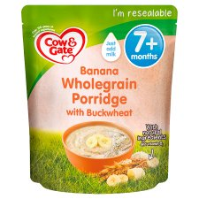 Cow And Gate Banana Wholegrain Porridge Baby Cereal From 7 Month 200G