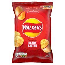 Walkers Ready Salted Crisps 32.5 G