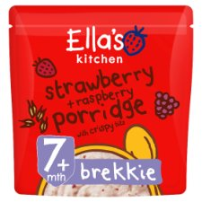 ellas kitchen strawberry raspberry porridge 175g - Ellas Kitchen