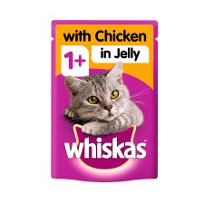 Whiskas 1+ Chicken In Jelly Cat Food Pouch 100G