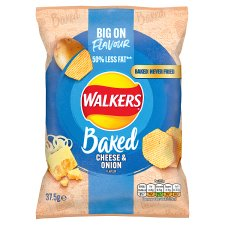 Walkers Baked Cheese & Onion Crisps 37.5 G