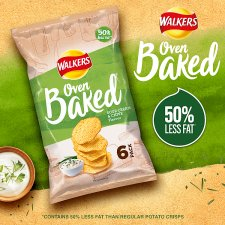 Walkers Baked Sour Cream And Chive Crisps 6 X 25 G
