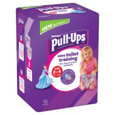 Huggies Pull Ups Pink Training Pants Age 2-4 15 Pack