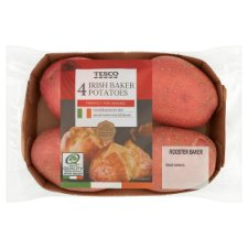Tesco 4 Pack Baker Potatoes 750G