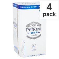 Peroni Libera Alcohol Free 4X330ml Bottle