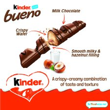 Kinder Bueno Milk And Hazelnut 4 Pack 172G