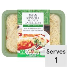 Tesco Spinach And Ricotta Cannelloni 450G