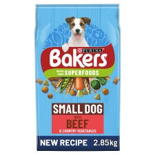 Bakers Small Dog Food Beef And Vegetable 2.85Kg