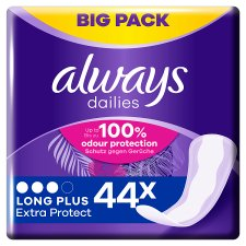 Always Dailies Extra Prot Long Plus Panty Liners 44 Pack