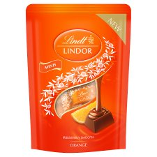 Lindt Lindor Mini Chocolate Orange 90G