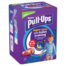 Huggies Pull Ups Blue Training Pants Age 2-4 N/Time 13 Pack
