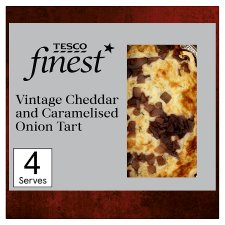 Tesco Finest* Vintage Chedder And Caramelised Onion Quiche400g