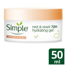 Simple Rest And Reset 72 Hour Hydrating Gel 50Ml