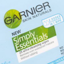 Garnier Skin Nats Vitamin Enriched Cleansing Wipes 25