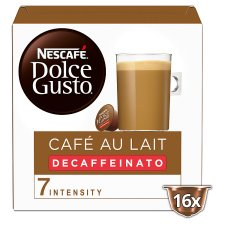 Nescafe Dolce Gusto Cafe Au Lait Decaffeinated Coffee Pods 16 Capsules