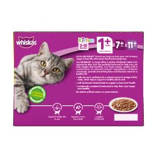 Whiskas 1+ Jelly Poultry Cat Food Pouches 12 X100g