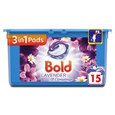 Bold 3In1 Washing Capsules Lavender And Camomile 15 Washes