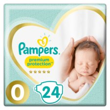 Pampers New Baby Premium Protection Size 0 24 Nappies Carry Pack