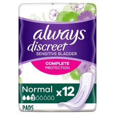 Always Discreet Normal Incont Pads 12 Pack