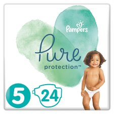 Pampers Pure Protection Size5 24 Nappies