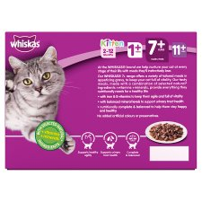 Whiskas 7+ Meat In Gravy Senior Cat Pouches 12 X100g