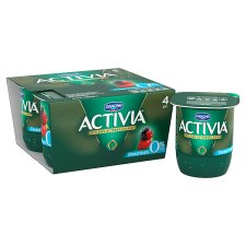 Activia 0% Fat Forest Fruits Yogurt 4X125g