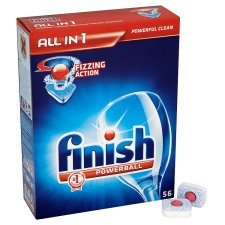 Finish All In 1 Dishwasher Tablets Regular 56S